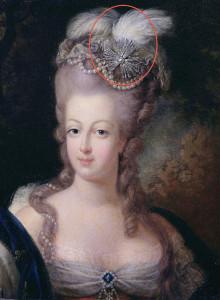 Эгрета-в-прическе-Марии-Антуанетты-1775---tiarasandtrianon.com