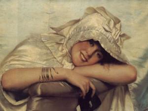 Giovanni-Costa-1826-1903,-Готова-к-балу---мотив-звеи-в-украшении---theaujasmin.blogspot.ru