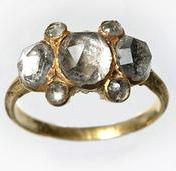 Золотое кольцо со следами эмали 17 век-museumoflondonimages.com