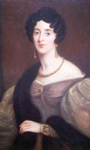 Ранний-романтизм-портрет Suzanne Hastings в золотых украшениях---beladora.com