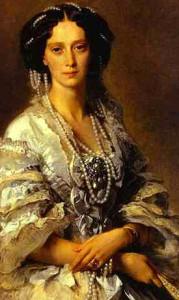 Романтизм периода гранд-императрица Мария Александровна-1858г. в жемчугах и броши - beladora.com