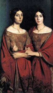 Романтизм-портрет викторианских сестер в браслетах из заплетенных волос - beladora.com