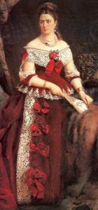 Романтизм периода гранд-портрет графини Зубовой в широком золотом браслете и жемчугах- beladora.com
