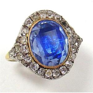 Перстень с сапфирами и бриллиантами конец 18-начало 19 вв.-icollector.com