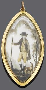 Эмалевая памятная подвеска конец 18 века--bonhams.com