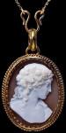 Антикварный медальон-камея-Европа-1880---romanovrussia.com