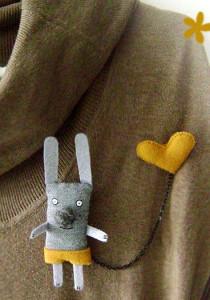 Брошь-анимализм-кролик---etsy.com