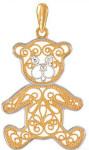 Детская-подвеска-мишка---завод-Золотые-купола---pokrovgold.ru