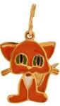 Детская-подвеска-рыжая-кошка---завод-Золотые-купола---pokrovgold.ru