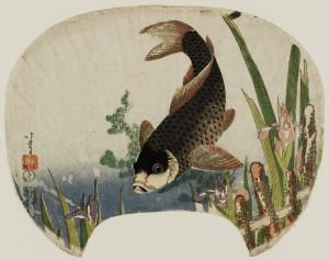 Хокусай---Карп-и-ирисы---Museum-of-Fine-Arts