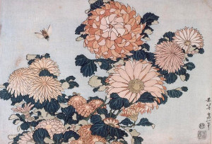 Хризантемы-и-слепень---Katsushika-Hokusai---WikiArt.org