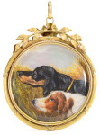 Медальон-двусторонняя-миниатюра-с-портретом-собаки---1910г.---georgianjewelry.com