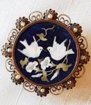 Мозаичная-брошь-из-золота-Флоренция---goodwill-antiques.jp