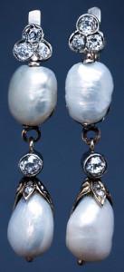 Серьги с барочными жемчужинами периода ар нуво---1910---romanovrussia.com