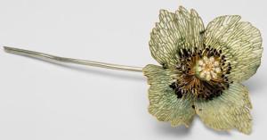 Брошь-цветок работы Рене Лалика--mesbijouxindiscrets.com