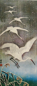 White-Birds-Flying-in-the-Snow художник Sho-sun---artdiscovery.info