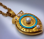 Антикварный викторианский медальон---Петербург-1885---romanovrussia.com
