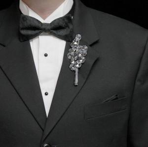 Мужская свадебная брошь--itsyourpartysc.com