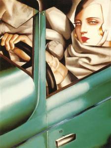 Автопортрет-Тамары-де-Лемпицка-в-стиле-ар-деко-1929-год---wikiart.org