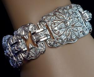Браслет из платины с бриллиантами ар деко-поздние-1920-е---romanovrussia.com