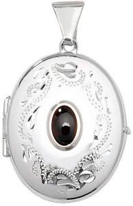 Мужской-серебряный-медальон-с-камнем---amazon.co.uk