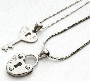 Подвески-для-двоих-замок-и-ключ---market86.com