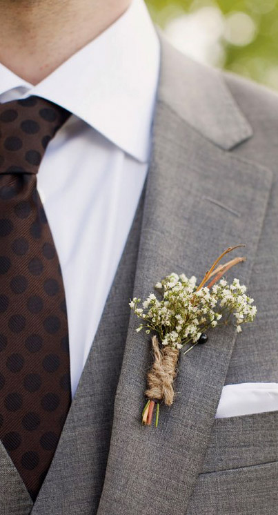 Цветок для жениха на костюм фото