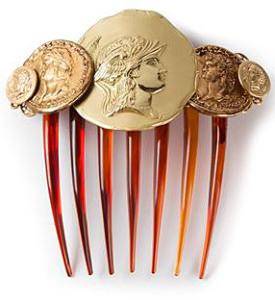 Гребень Dolce-&-Gabbana с римскими монетами---www.farfetch.com