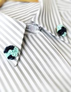 Двойные броши-миниатюры на воротник блузы - irenka-r.livemaster.ru