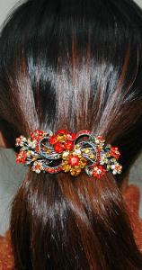 Заколка-автомат на длинных волосах - longhairgirl.com