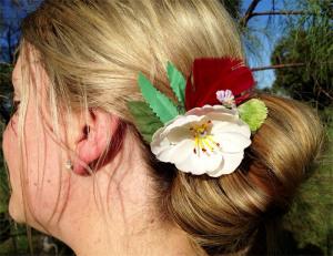 Брошь для волос цветы - madeit.com.au