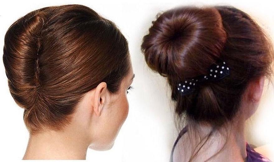 Как сделать пучок из волос с заколкой