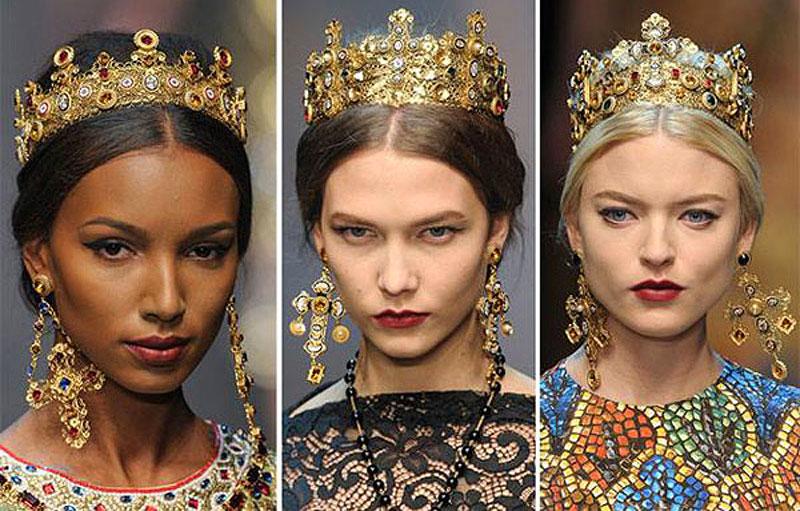 Dolce & Gabbana, вдохновленные византийскими мозаиками, предложили коро