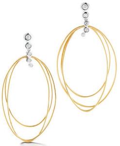 Золотые серьги с бриллиантами, Dana David