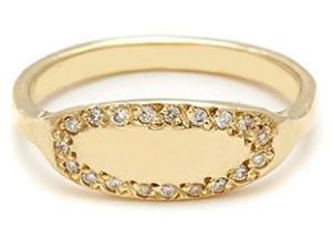 Золотое кольцо с бриллиантами, Elisa Solomon