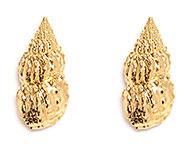 Серьги-раковины из стали с золотым покрытием, Tiffany Chou