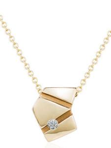 Асимметричная подвеска с бриллиантом, Marcia Budet