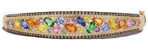 Золотой браслет с цветными сапфирами и бриллиантами, Effy