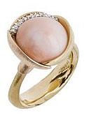 Кольцо с кораллом и бриллиантами, Ole Lynggaard