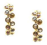 Серьги-кольца с коричневыми бриллиантами, Trésor