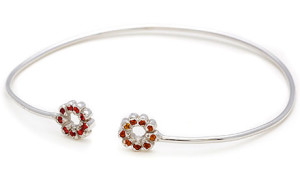 Золотой браслет-обруч с сапфирами - Elisa Solomon