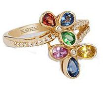 Кольцо с сапфирами и бриллиантами, Effy