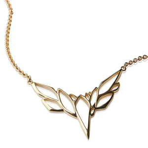 Золотое колье в форме птицы, Lisa Kim Fine Jewelry