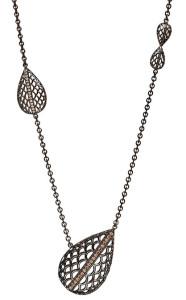 Колье из черненого серебра с бриллиантами, Diana Widman