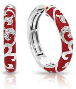Серебряные серьги-кольца с итальянской эмалью, Belle Étoile