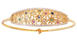 Золотой браслет с бриллиантами и драгоценными камнями, Jane Taylor