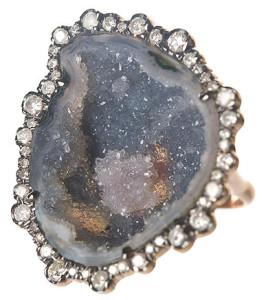 Кольцо с черным родием, вставка - жеода, Kimberly McDonald
