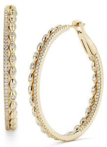 Серьги-кольца с бриллиантами, Dana Rebecca