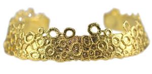 Колье-коллар - гипюровое шитье, погруженное в золото и серебро, MonikaKnutsson
