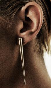 Серьга с элементами стиля кубизм - chrishabanajewelry.com